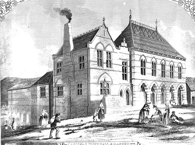 Cardigan Town Hall and Market from The Building News September 1859